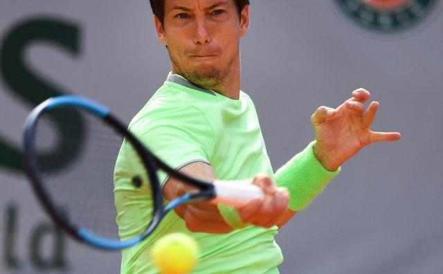 Aljaž Bedene je odlično začel teniški turnir v Umagu. Foto AFP