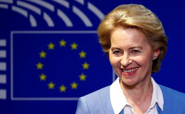 Tajno glasovanje, ki bo pokazalo, ali je bila von der Leynova dovolj prepričljiva, bo ob 18. uri. FOTO: Reuters