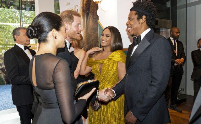 Meghan Markle, Beyoncé, princ Harry, and Jay-Z – čimprej se morajo domeniti za dvojni zmenek, so zapisali v enem od medijev. FOTO: AFP