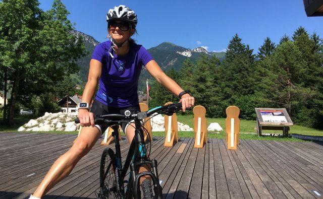 Tanja Fajon rada kolesari, plava, se potaplja, hodi... skratka, navdušena rekreativka. FOTO: osebni arhiv Tanje Fajon