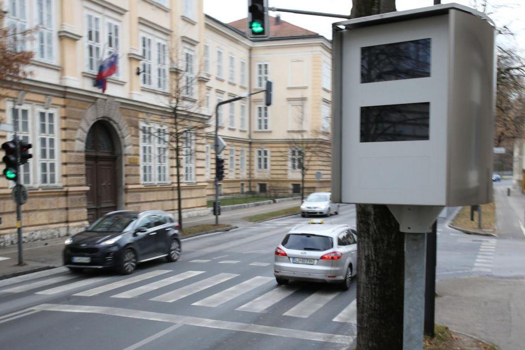 V Ljubljani dve novi lokaciji radarjev