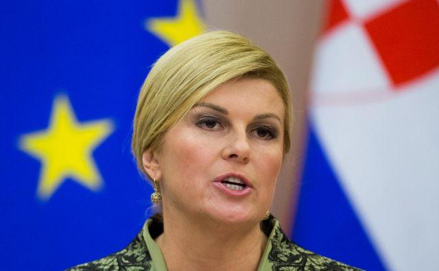 Predsednica je zatrdila, da hrvaška policija ravna »zakonito, profesionalno in humano« pri preprečevanju ilegalnih prehodov hrvaške meje, ki je tudi zunanja meja Evropske unije. FOTO: Reuters