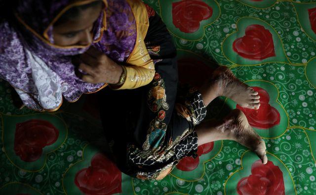Noor Begum (23) pripadnico manjšine Rohingya, je posililo pet moških. FOTO: Reuters