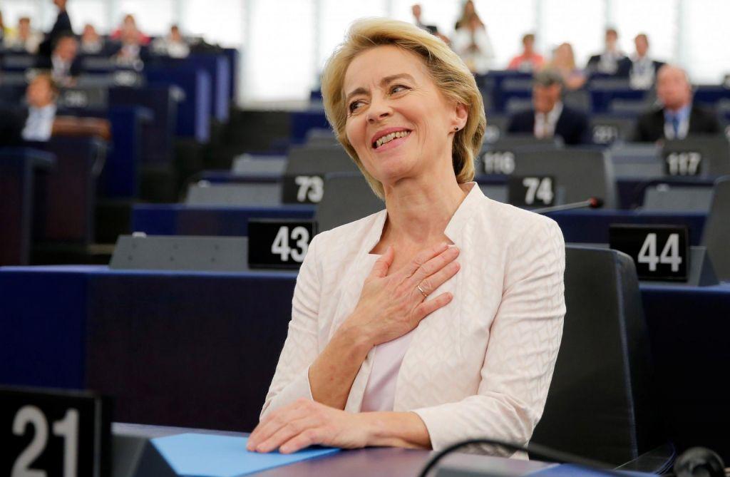FOTO:Ursula von der Leyen nova predsednica evropske komisije, a le s 383 poslanskimi glasovi