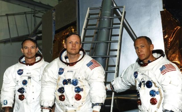 Michael Collins, Neil Armstrong in Buzz Aldrin FOTO: Nasa