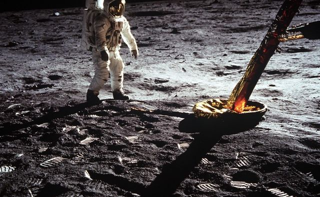 Buzz Aldrin na Luni. FOTO: Nasa