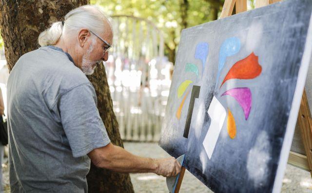 Edward Trobec, Američan slovenskih korenin, je ustvaril sliko o jeziku barv. Foto Uroš Hočevar
