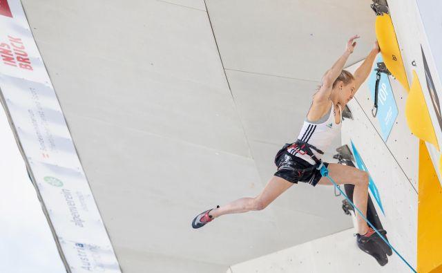 Janja Garnbret bo že danes moči usmerila v to, da pokaže, kaj zares zna in zmore; česar ni pokazala v Chamonixu. FOTO: Luka Fonda