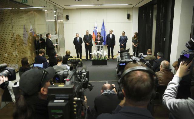 Predsednik Vlade RS Marjan Šarec je gostil srečanje koalicijskih partnerjev. Brdu pri Kranju, 12. marec 2019. Foto Leon Vidic/delo