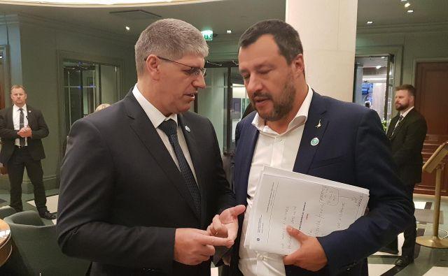 Poklukar je Salvinija opozoril, da je zapiranje slovensko-italijanske meje nepotrebno tudi zaradi zgodovinskih razlogov. FOTO: MNZ