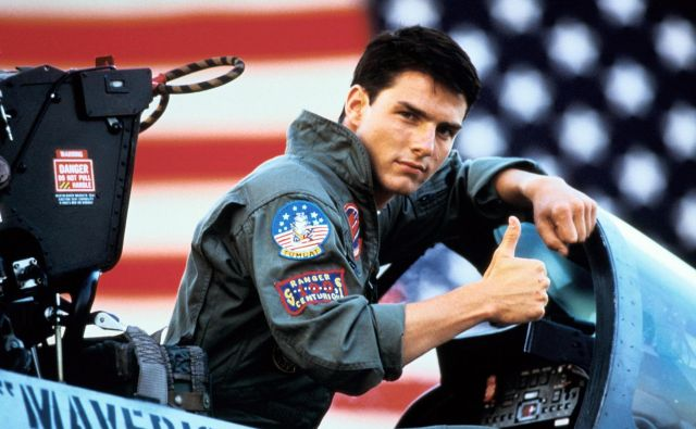 Kader iz prvega filma Top Gun. FOTO: Promocijsko Gradivo