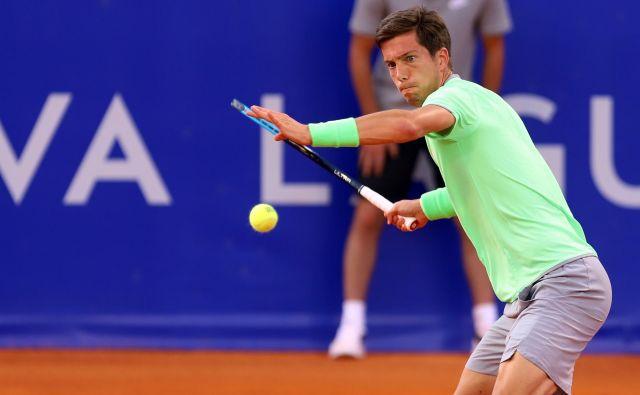 Aljaž Bedene je zamudil lepo priložnost za preboj v polfinale turnirja ATP. FOTO: Željko Hajdinjak/Cropix