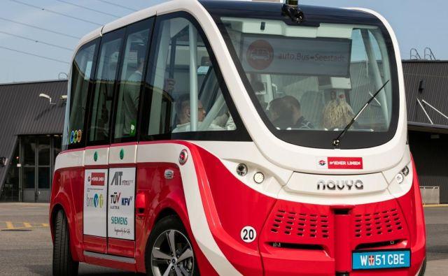 Na Dunaju se je robotski taksi zapletel v lažjo nesrečo. Foto Ait Austrian Institute Of Techonology
