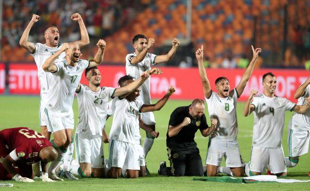 Alžirci so drugič postali najboljši v Afriki. FOTO: Reuters