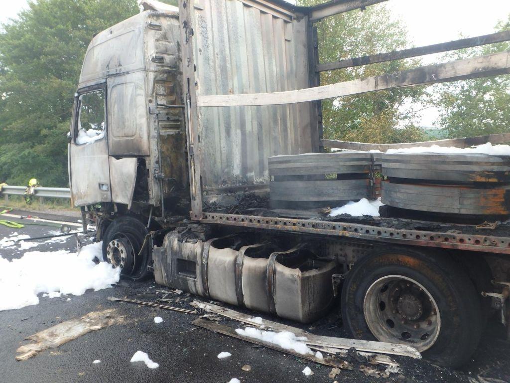 Zagorelo tuje tovorno vozilo
