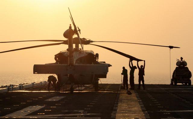 Ameriška vojaška ladja USS Boxer. FOTO: Ahmed Jadallah/Reuters