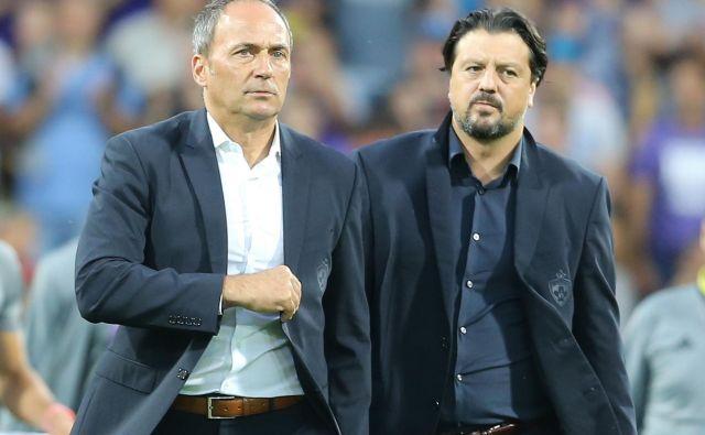Trener Maribora Darko Milanič in športni direktor kluba Zlatko Zahović se nahajata v ostrem ritmu evropskih tekem. FOTO: Tomi Lombar
