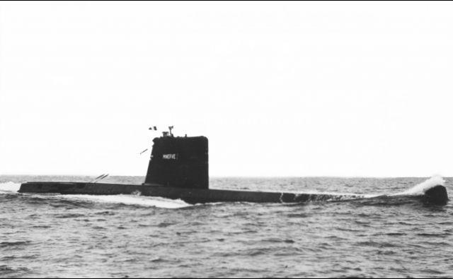 Podmornica Minerva med vojaško vajo. Izginila je leta 1968. FOTO: STF/AFP