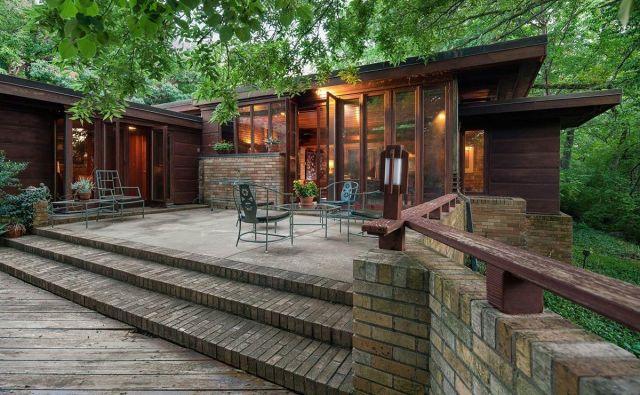 Frank Lloyd Wright je hišo v Kansas Cityju opisal kot »majhen dragulj«. FOTO: realestate.ha.com