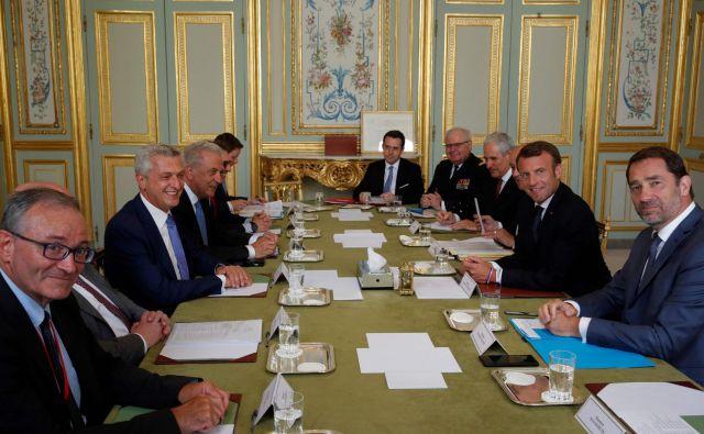 V Parizu je bil neformalni posvet zunanjih in notranjih ministrov EU in predstavnikov mednarodnih organizacij o migracij v Sredozemlju. FOTO: Philippe Wojazer/AFP