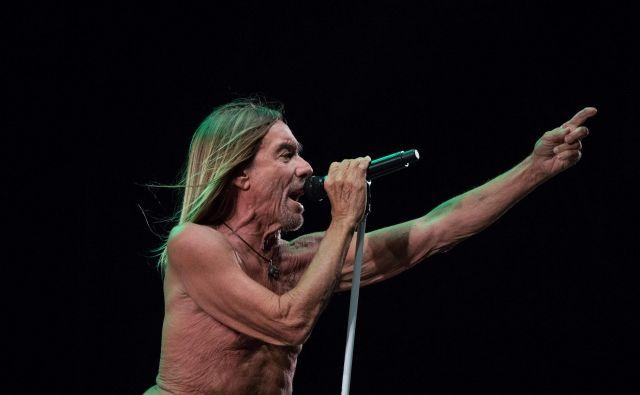 Iggy Pop, vedno energičen na odru. FOTO: AFP
