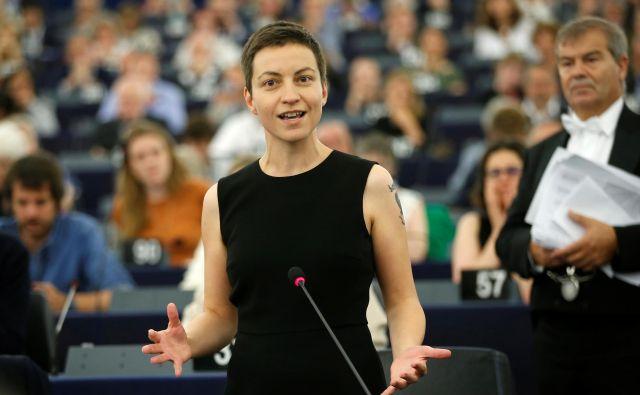 Franziska Maria Ska Keller, voditeljica nemških Zelenih in sovoditeljica evropske zveze zelenih strank. FOTO: Reuters