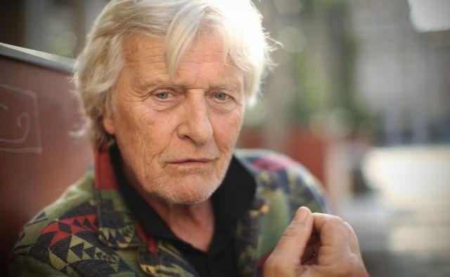 Rutger Hauer, nizozemski filmski igralec z uspešno mednarodno kariero. FOTO: Jure Eržen