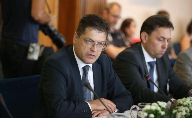 Predstavitev kandidata za evropskega komisarja iz Slovenije Janeza Lenarčiča pred parlamentarnim odborom za zadeve EU. FOTO: Leon Vidic/Delo