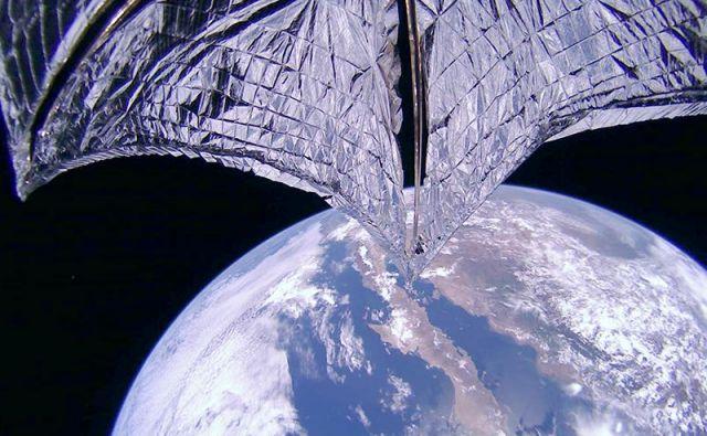 Odprto solarno jadro. FOTO: Planetary Society