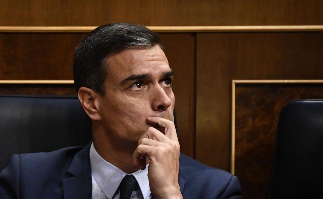 Socialist Pedro Sánchez danes ni dobil potrebne večinske podpore poslancev. Foto Afp