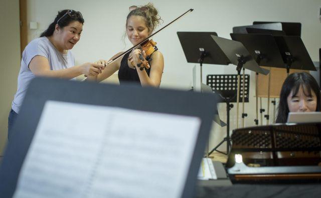 Latica Honda-Rosenberg med mojstrsko delavnico na Konzervatoriju za glasbo in balet. Foto Voranc Vogel