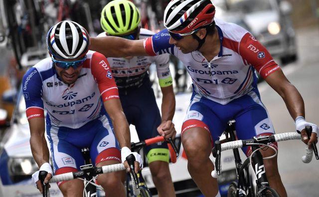 Thibaut Pinot je v solzah končal letošnji Tour. FOTO: AFP