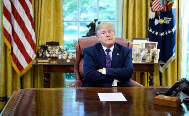 Ameriški predsednik Donald Trump. FOTO:Brendan Smialowski/Afp