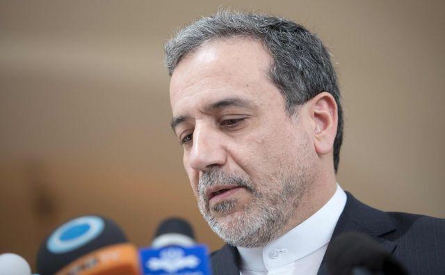 Namestnik iranskega zunanjega ministra Abas Aragči je vzdušje na srečanju označil kot konstruktivno. FOTO: Alex Halada/Afp