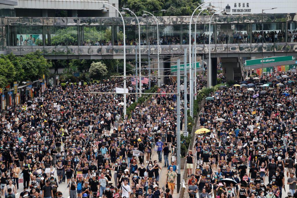 Protestniki tudi danes na ulicah Hongkonga