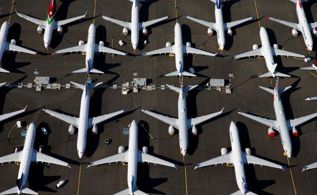Prizemljena letala boeing 737 max v Seattlu. Foto: Reuters