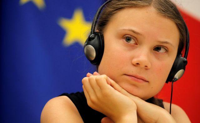 To bo njeno prvo potovanje v Severno in Južno Ameriko, odkar je lani začela s šolsko stavko. FOTO: Philippe Wojazer/Reuters