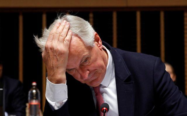 Bruselj še vedno ni uradno razjasnil, kaj se v primeru brexita brez dogovora zgodi z irsko mejo. Na fotografiji glavni pogajalec EU za brexit Michel Barnier. Foto Reuters