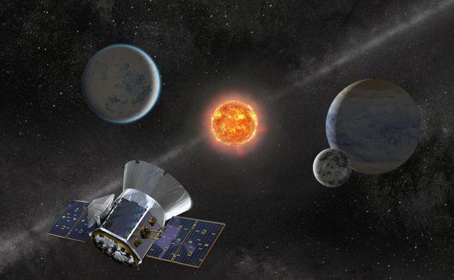 Satelit Tess je praznoval prvo leto delovanja, v tem času pa je odkril 24 planetov in več kot 900 planetarnih kandidatov. Ilustracija: Nasa