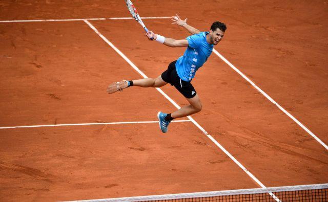Dominic Thiem bo počakal na OI 2024, saj se bodo teniški igralci tedaj merili na Roland-Garrosu, kjer je Avstrijec letos in lani igral v finalu, obakrat pa je bil od njega boljši Rafael Nadal. FOTO: AFP