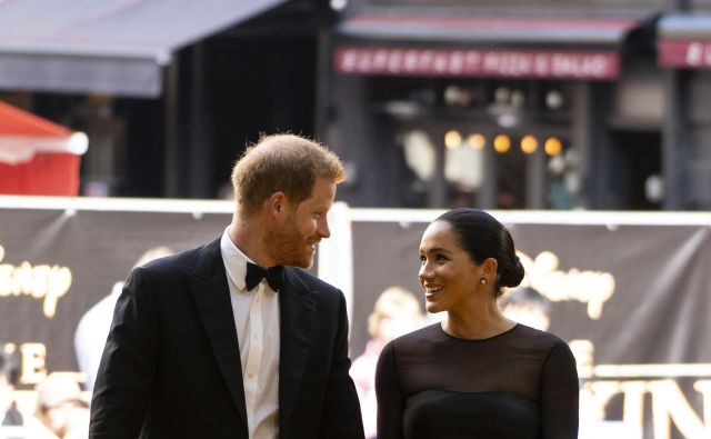 Britain's Meghan, Duchess of Sussex, and Prince Harry, Duke of Sussex, arrive for the European premiere of the film The Lion King in London, Britain July 14, 2019. Niklas Halle'n/Pool via REUTERS Foto Pool Reuters
