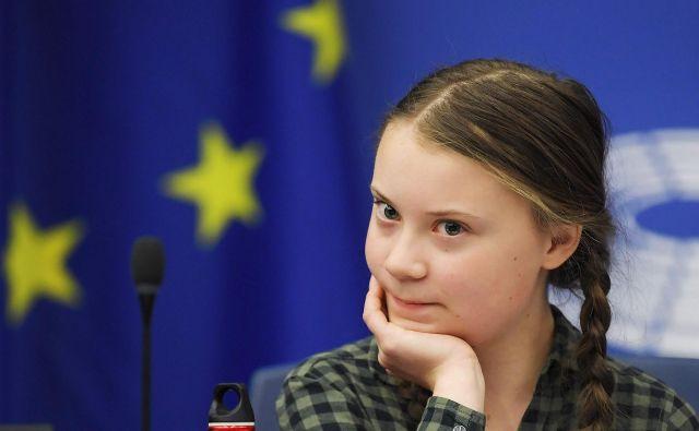 Greta Thunberg ne želi leteti z letali, ker so preveč okoljsko sporni. Foto Frederick Florin Afp