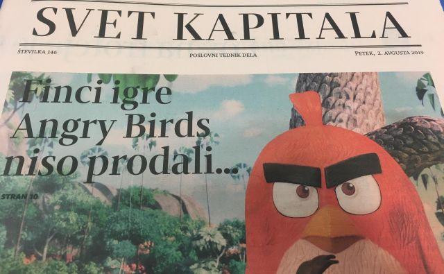 Finci igre Angry Birds niso prodali... Foto: A. S. H.