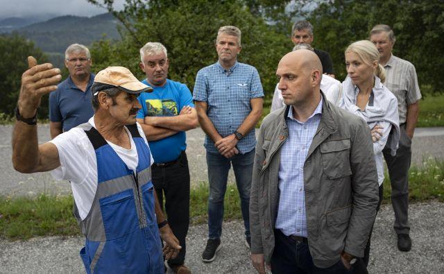 Ustanovitelj »pobude za odstranitev nevarnih zveri« s tega okolja<strong> </strong>Ivan Mavri je po srečanju povedal, da je njihova glavna zahteva varnost. FOTO: Voranc Vogel