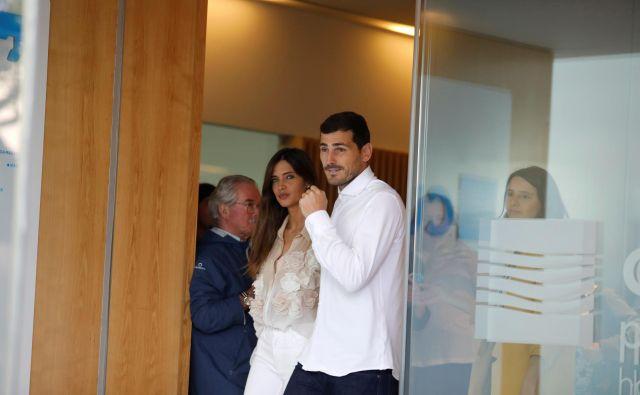 Iker Casillas in Sara Carbonero v Portu. Foto: Reuters