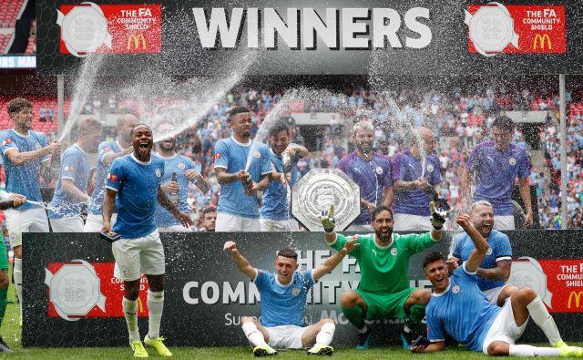 Nogometaši Manchester Cityja so osvojili novo lovoriko in še ozaljšali zanje uspešno leto 2019. FOTO: AFP