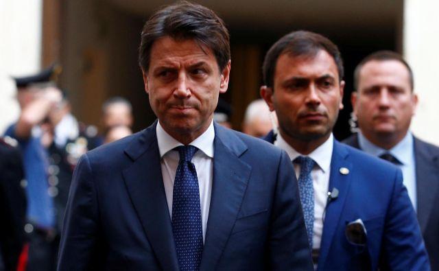 Večina analitikov pričakuje, da bo Giuseppe Conte danes napovedal odstop. Foto Reuters
