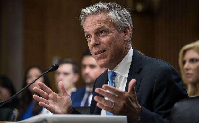 Huntsman se je leta 2012 potegoval za republikansko predsedniško nominacijo, ki jo je potem osvojil njegov kolega mormon iz Utaha Mitt Romney. FOTO: Nicholas Kamm/AFP