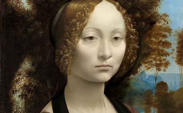 Portret Ginevre de' Benci, ki visi v Narodni galeriji umetnosti v Washingtonu.