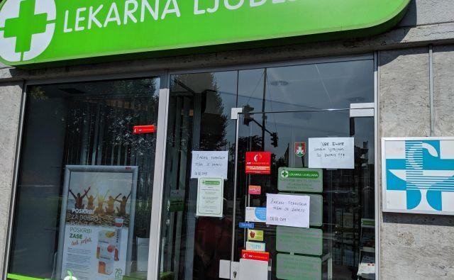 V Lekarni Ljubljana so incident prijavili pristojnim institucijam in organom pregona. Podrobnejših informacij o dogodku še ne posredujejo, saj preiskava še poteka. FOTO: A. L.